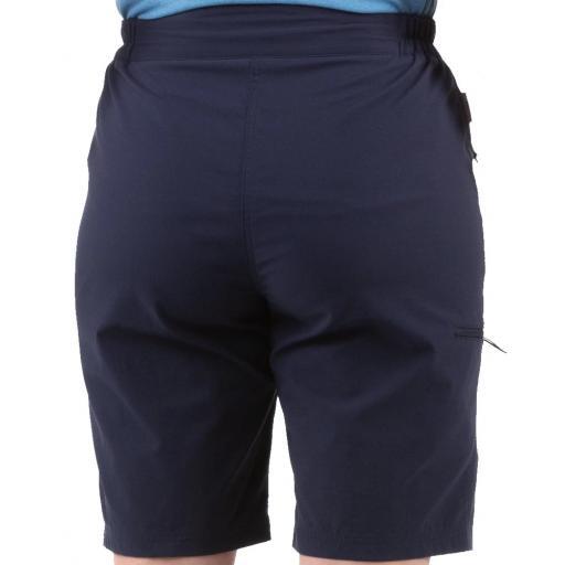 Sprayway Womens Escape Shorts Blazer Blue Rear