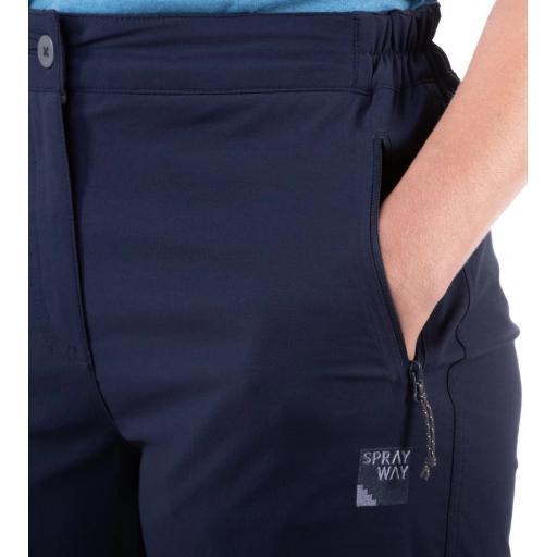 Sprayway Womens Escape Shorts Blazer Blue Pocket