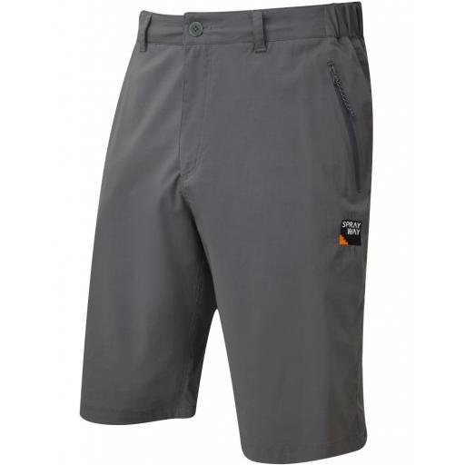 Sprayway Men's Compass Hiking and Travel Shorts - Grey