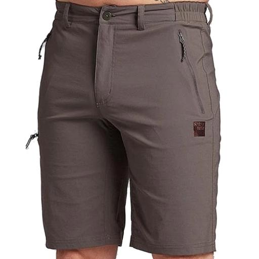 Sprayway Mens Compass Hiking Shorts Front Carbon Grey.