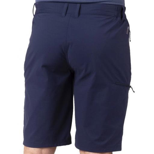 Sprayway Mens Compass Hiking and Travel Shorts Blazer Blue Rear