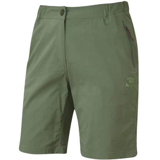 Sprayway Womens Escape Lightweight Hiking and Travel Shorts - Laurel Green