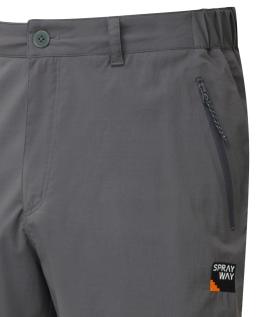 Sprayway Mens Compass Hiking and Travel Shorts Carbon Grey Pocket Detail