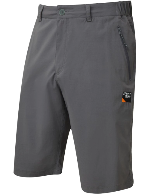 Sprayway Mens Compass Hiking and Travel Shorts Carbon Grey Front