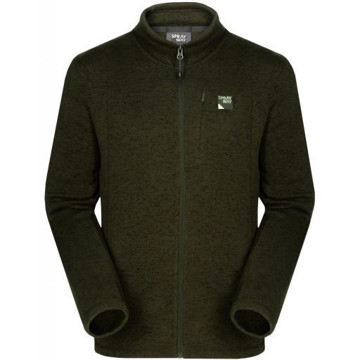 Sprayway Men's Minos Warm Fleece Jacket - Green