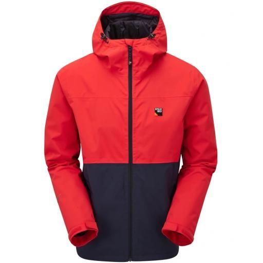 Sprayway Hergen Mens Waterproof Breathable Jacket with Hood - Red