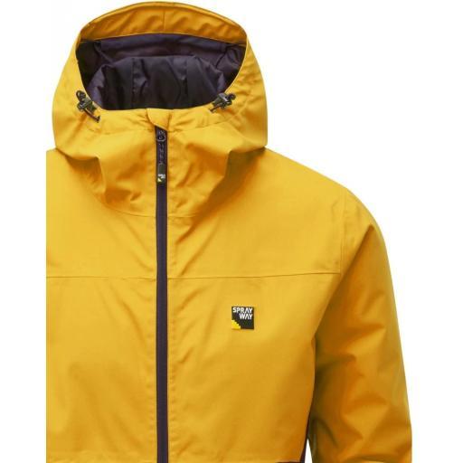 Sprayway Hergen Mens Waterproof Jacket Tugun Yellow Blazer Detail