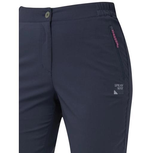 Sprayway Womens Escape Pants Black Detail_1001.png
