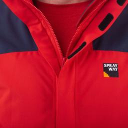 Sprayway Hain Waterproof Jacket Mens Red Zip Detail