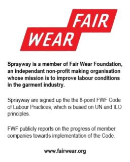 Sprayway Fair Wear Foundation Tag