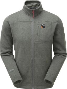Sprayway Mens Minos Fleece Jacket Full Zip Front Chrome Grey