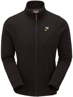 Sprayway Mens Minos Fleece Jacket Black Front View