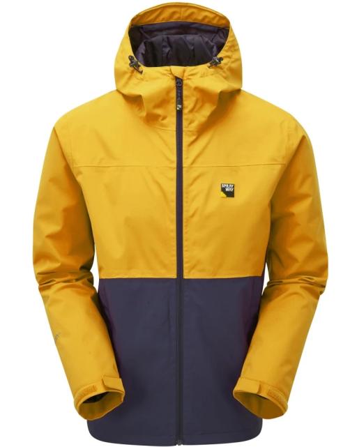 Sprayway Hergen Mens Waterproof Jacket Tugun Yellow Blazer Front