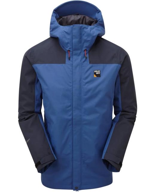 Sprayway Mens Hain Waterproof Jacket Front Yukon Blue Blazer
