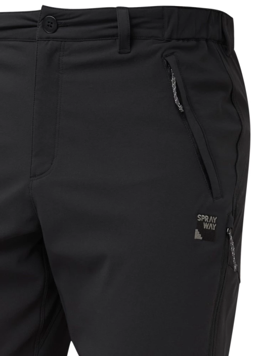 Sprayway Mens Compass Pro Pants Black Front Detail