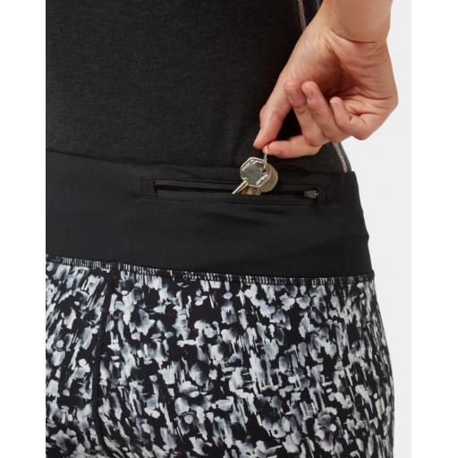 Ronhill Womens Life Crop Tight Mono Mushroom Rear Key Pocket
