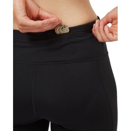 Ronhill Womens Life Poise Crop Tight Black MonoGeoAnimal Rear Keys Pocket