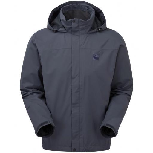 Sprayway Mezen Mens Waterproof Lightweight Packable Hiking Jacket - Gray
