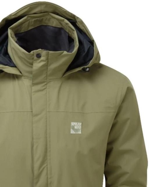 Sprayway Mezen Waterproof Jacket lichen green detail