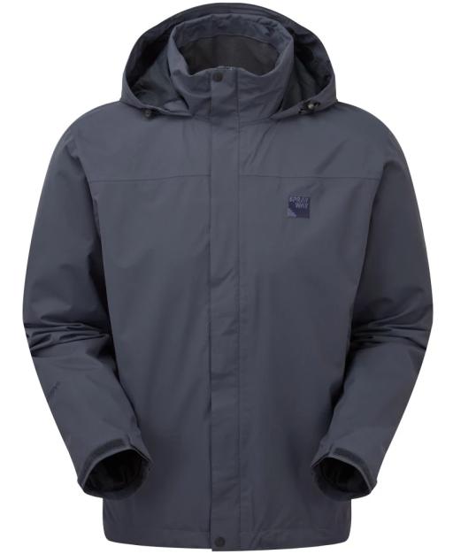 Sprayway Mezen Mens Waterproof Jacket Odyssey Grey Front.png