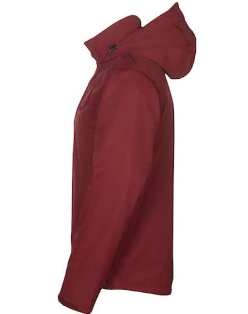 Sprayway Mezen Mens Waterproof Jacket Deep Redwood Side
