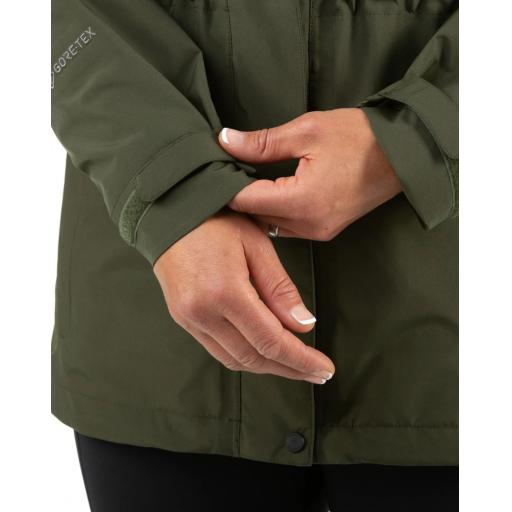 Sprayway Womens Vista Waterproof Goretex Jacket Woodland Green Hands