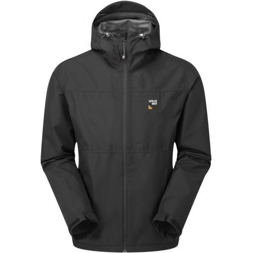 Sprayway Rask Mens Lightweight Waterproof Gore-Tex Hiking Jacket - Black