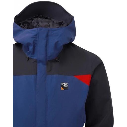 Sprayway Mens Reaction Waterproof Jacket Yukon Blue Blazer Front