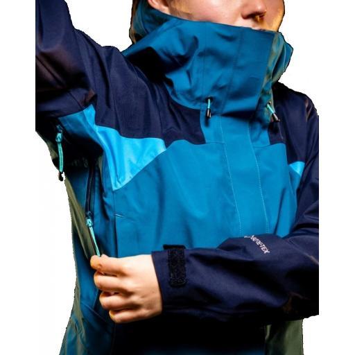 Sprayway Womens Torridon GTX Waterproof Jacket Lyons Blue Blazer Latigo Pit-Zips