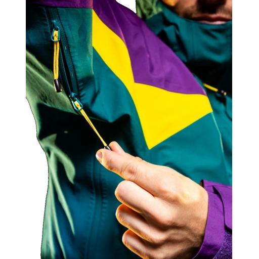 Sprayway Mens Torridon Waterproof Jacket Pit Zips Caspian Green Neutron Lightning Yellow