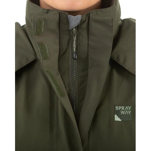 Sprayway Womens Vista Waterproof Goretex Jacket Woodland Green Zip