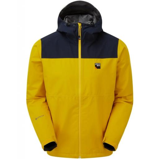Sprayway Rask Mens Lightweight Waterproof Gore-Tex Hiking Jacket - Yellow