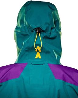 Sprayway Mens Torridon Waterproof Jacket Hood Caspian Green Neutron Lightning Rear