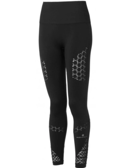 Ronhill Womens Life Seamless Tight Black Front