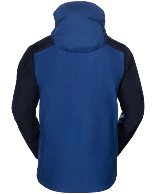 Sprayway Reaction Mens Waterproof Jacket Rear Yukon Blue Blazer