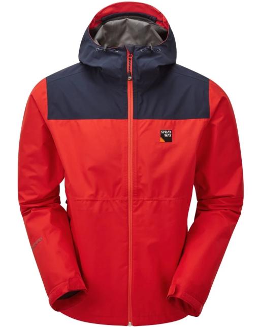 Sprayway Mens Rask Waterproof Jacket Racing Red Blazer Blue Front