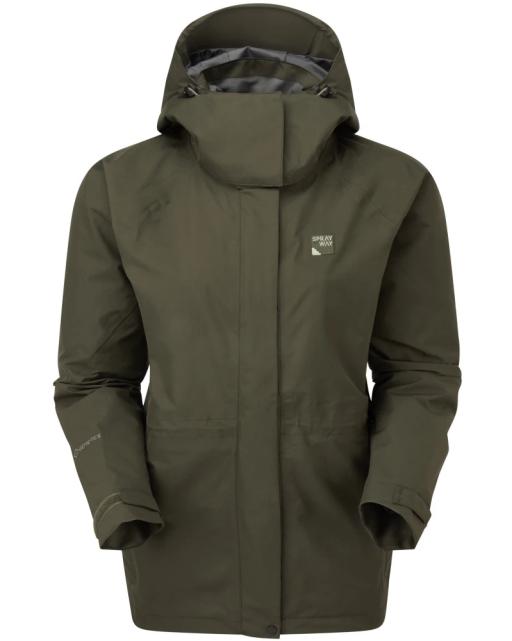 Sprayway Womens Vista Waterproof Goretex Jacket Woodland Green Front