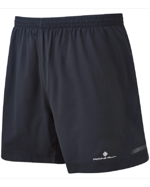 Ronhill Men's Stride black 5 in shorts Front