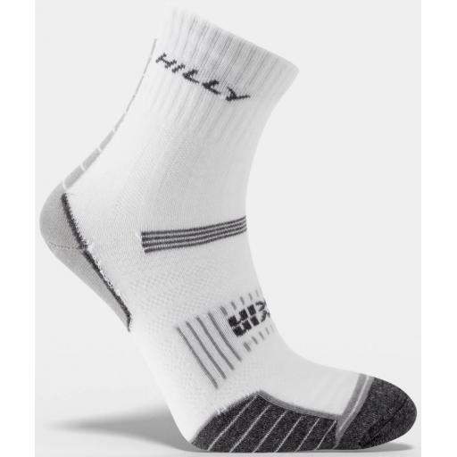 Hilly Twin Skin Socks | Anti Blister Running Socks - White