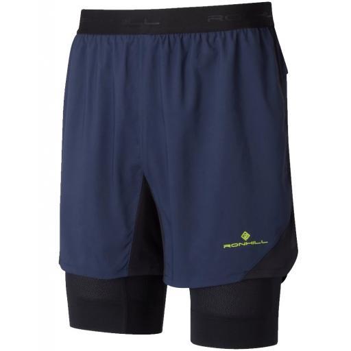 Ronhill Twin Running Shorts | Ronhill Tech Revive 5 Twin Shorts Mens - Deep Navy / Black