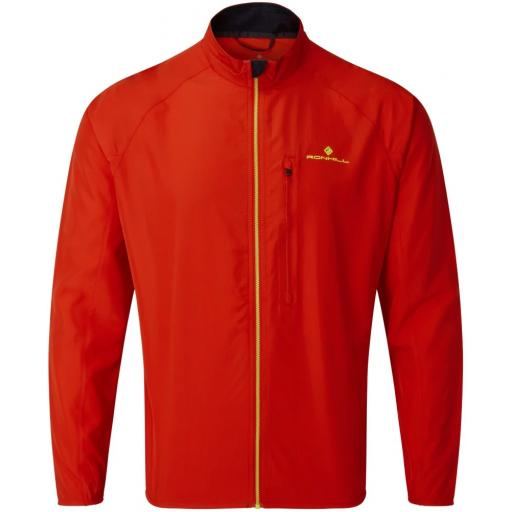 Ronhill Core Jacket | Windproof Running Jacket Mens - Flame Red
