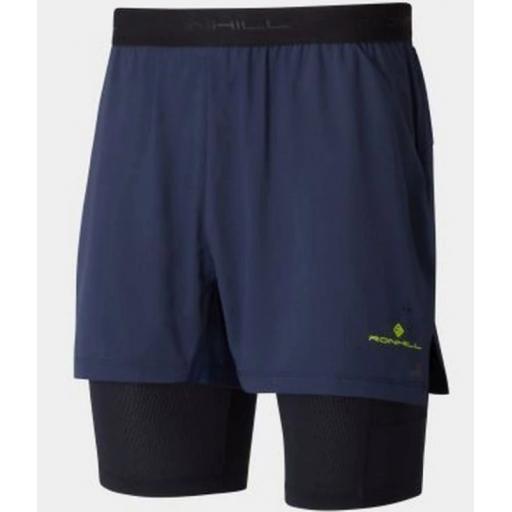 Ronhill Tech Ultra Twin Skin Running Shorts Mens - Navy Blue / Black
