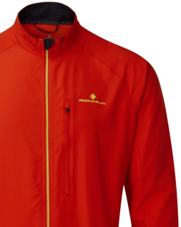 Ronhill Mens Core Jacket Flame Fluo Yellow Front Detail