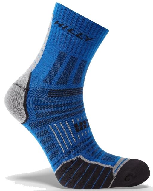 Hilly Twin Skin Socks Azurtie Grey Marl Side